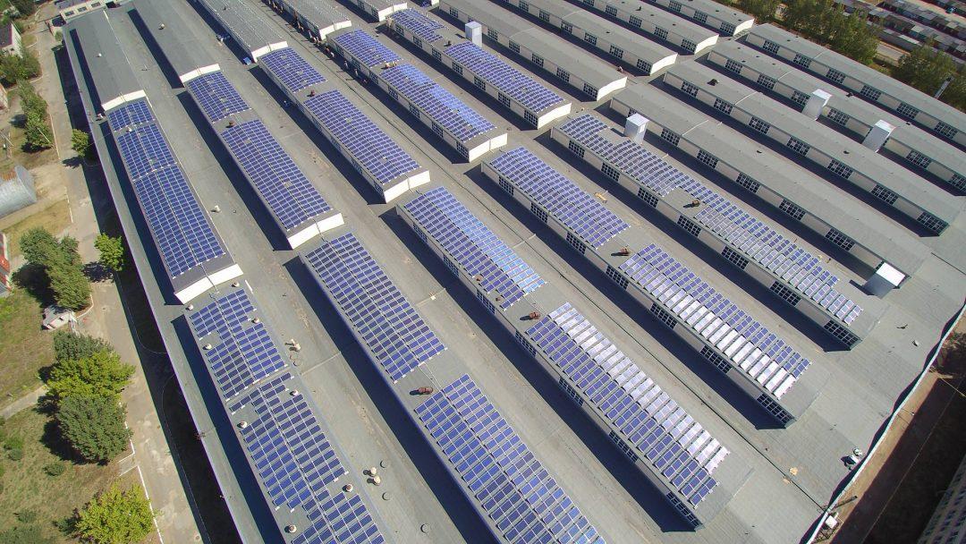 1000 kW saulės elektrinė Daugpilyje