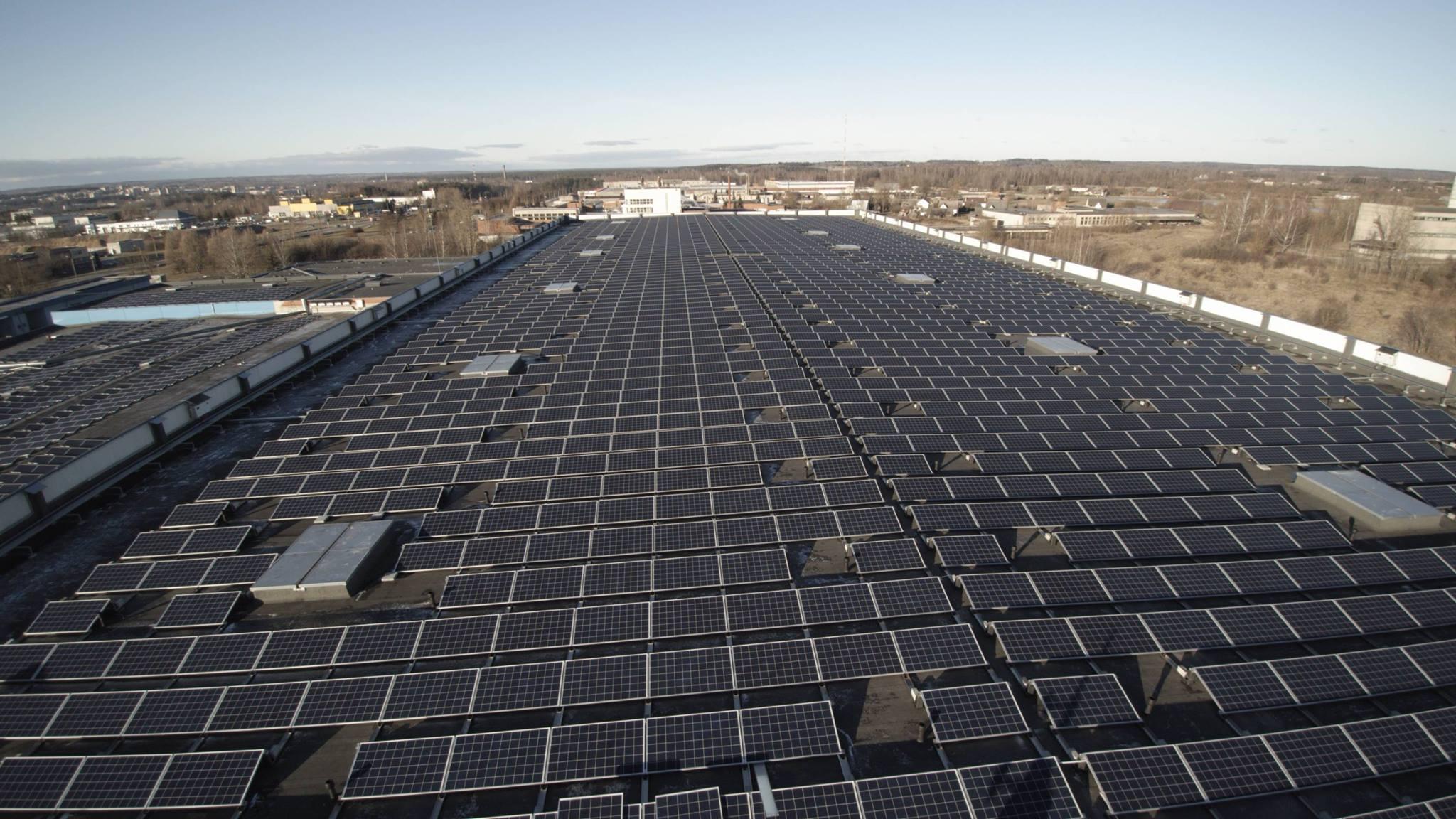 1000 kW saulės elektrinė Utenoje