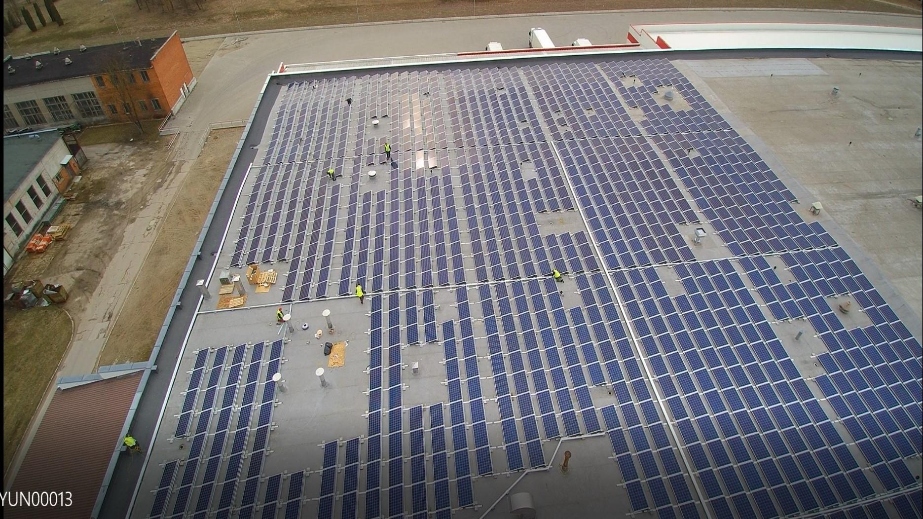 Saulės elektrinė Utenoje