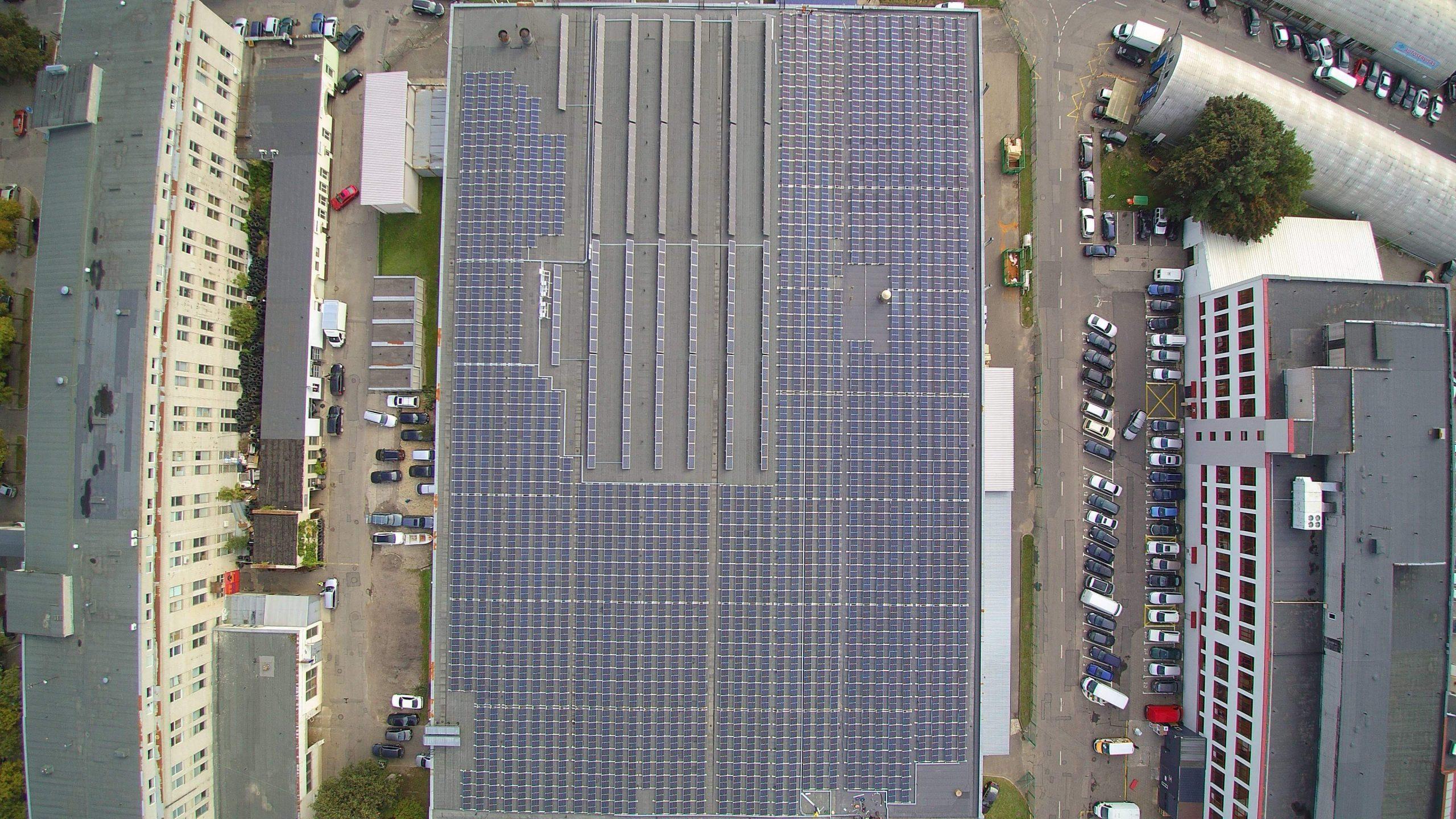 500 kW saulės elektrinė Vilniuje