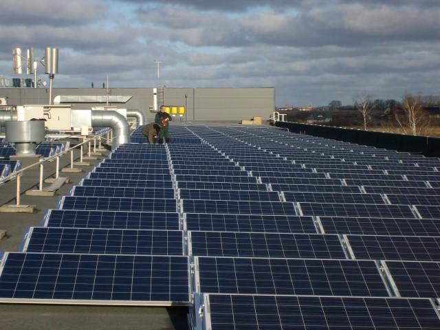 150 kW saulės elektrinė Klaipėdoje