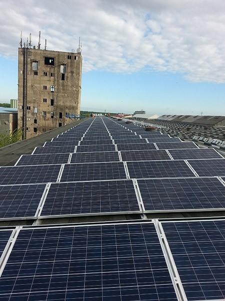 150 kW saulės elektrinė Magdeburge, Vokietija