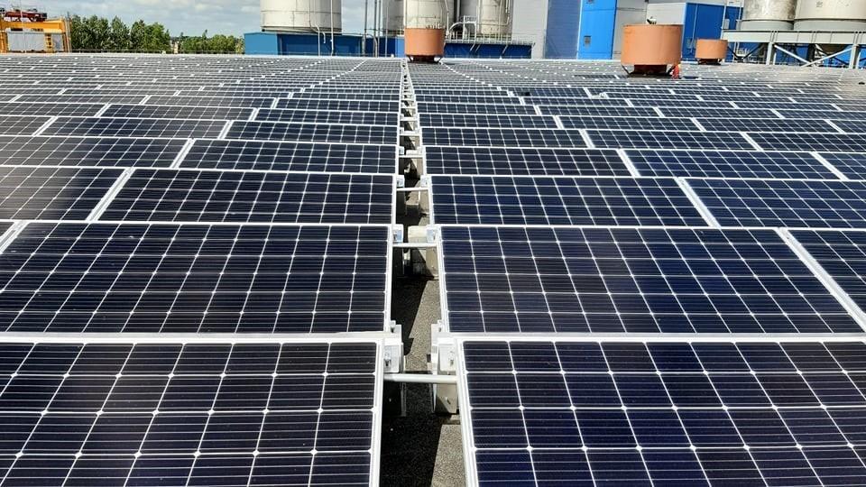 566 kW saulės elektrinė Klaipėdoje
