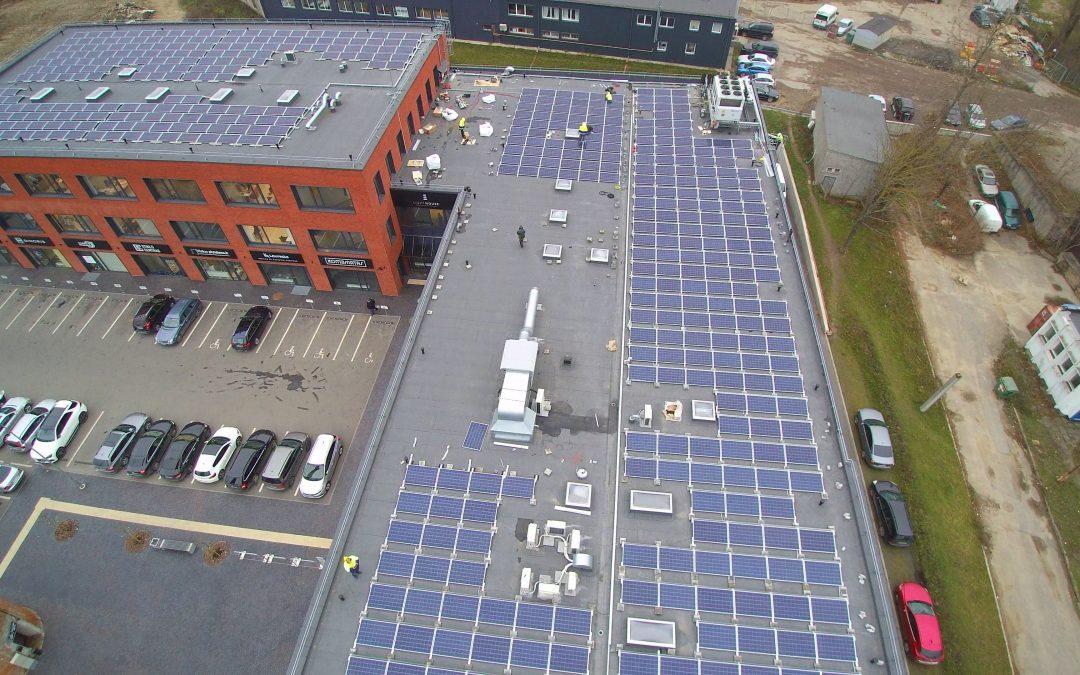 147 kW saulės elektrinė Klaipėdoje