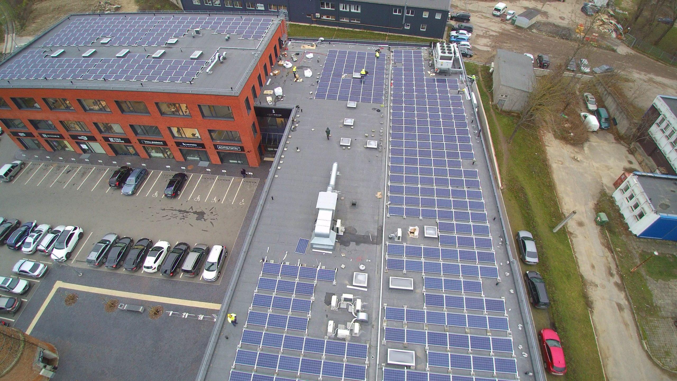 Saulės elektrinė Klaipėdoje
