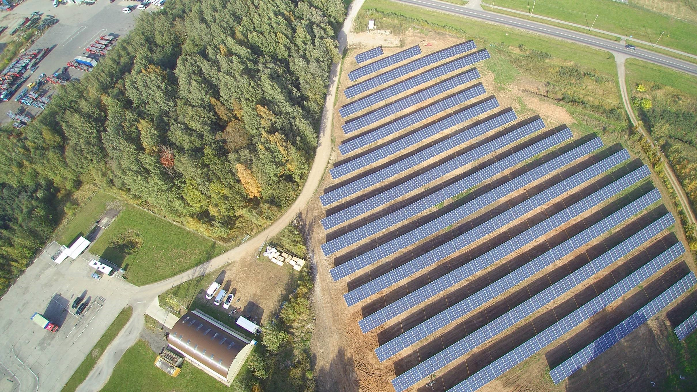999 kW saulės elektrinė Utenoje