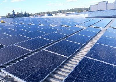 99 kW saulės elektrinė Vilniuje