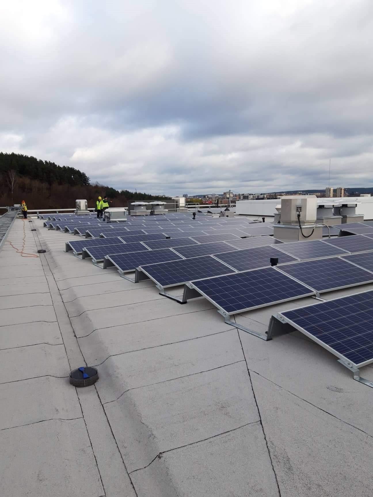 Saulės elektrinė Vilniuje