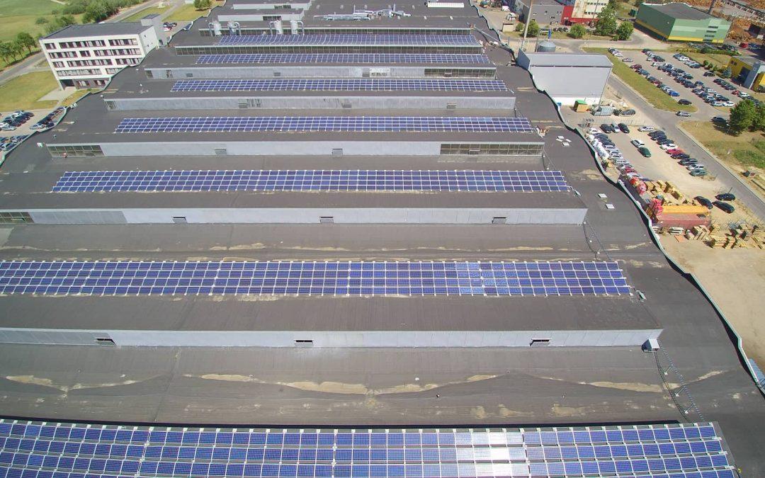500 kW saulės elektrinė Alytuje