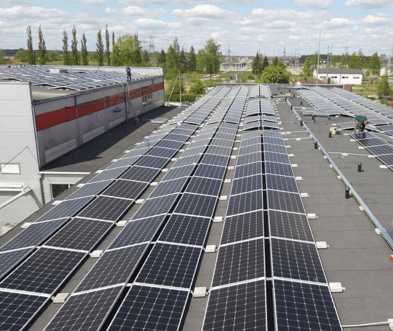 300 kW saulės elektrinė Panevežyje