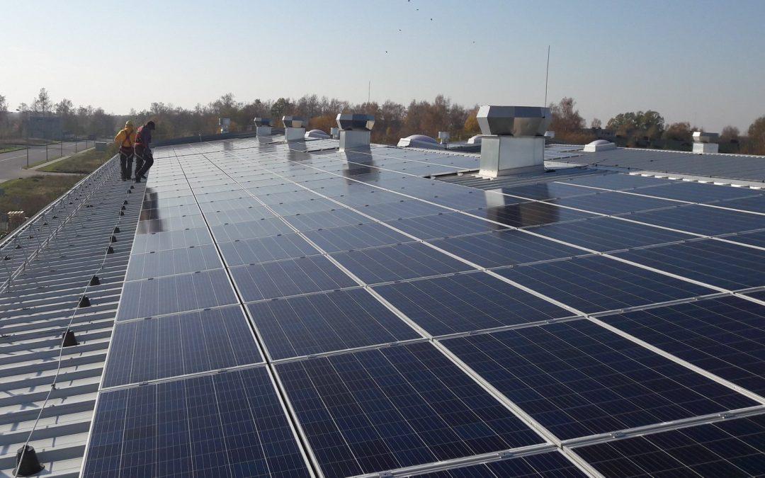150 kW saulės elektrinė Šiauliuose
