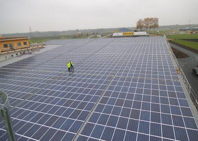 446,5 kW saulės elektrinė Gampelene, Šveicarija