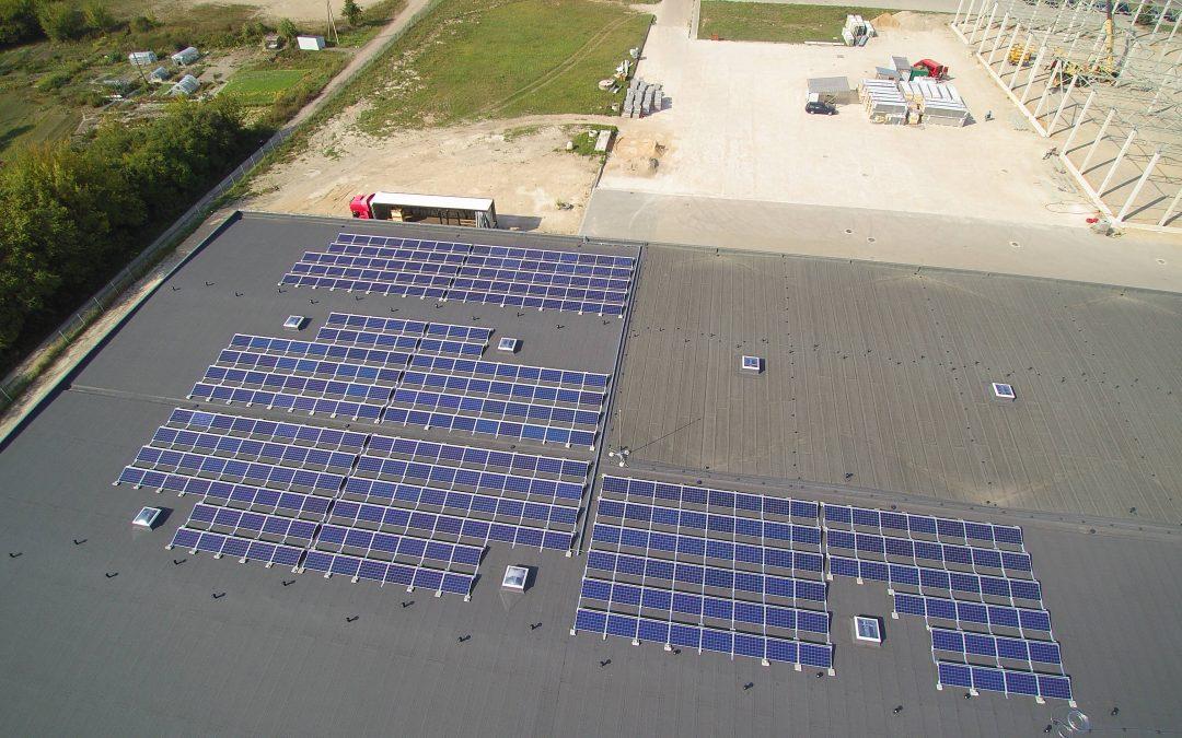 99 kW saulės elektrinė Marijampolėje