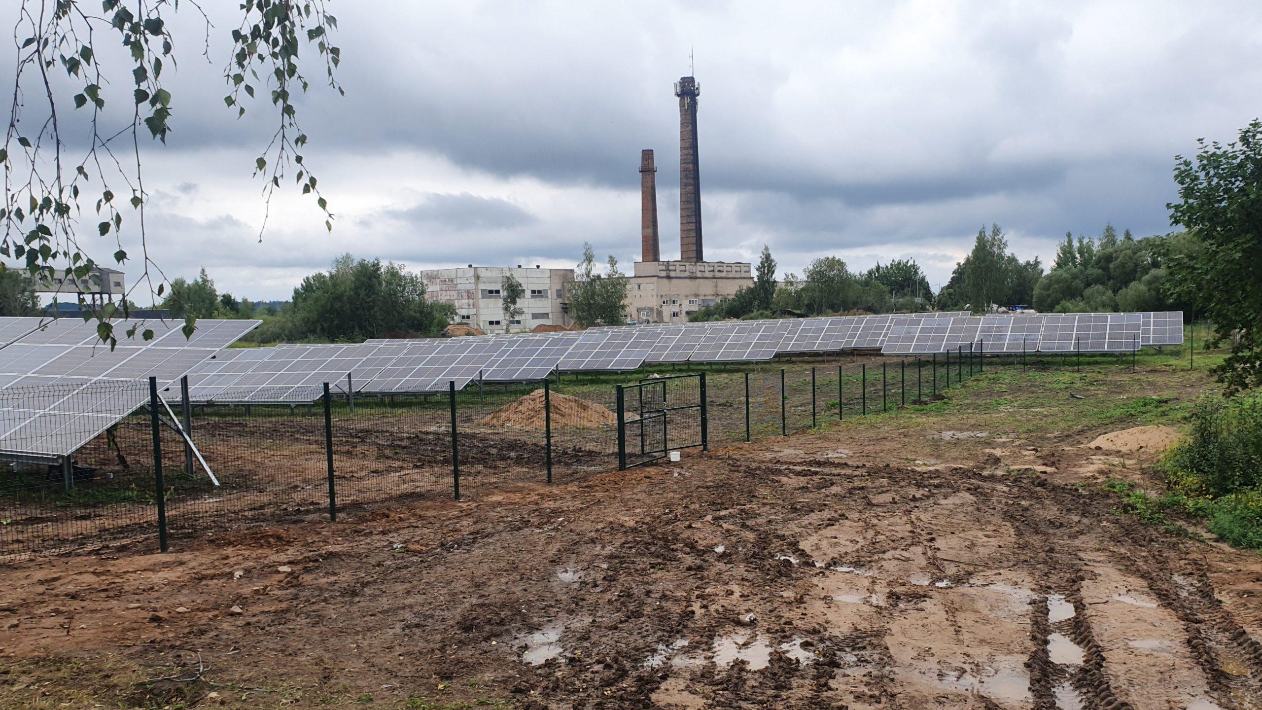 400 kW saulės elektrinė Telšiuose