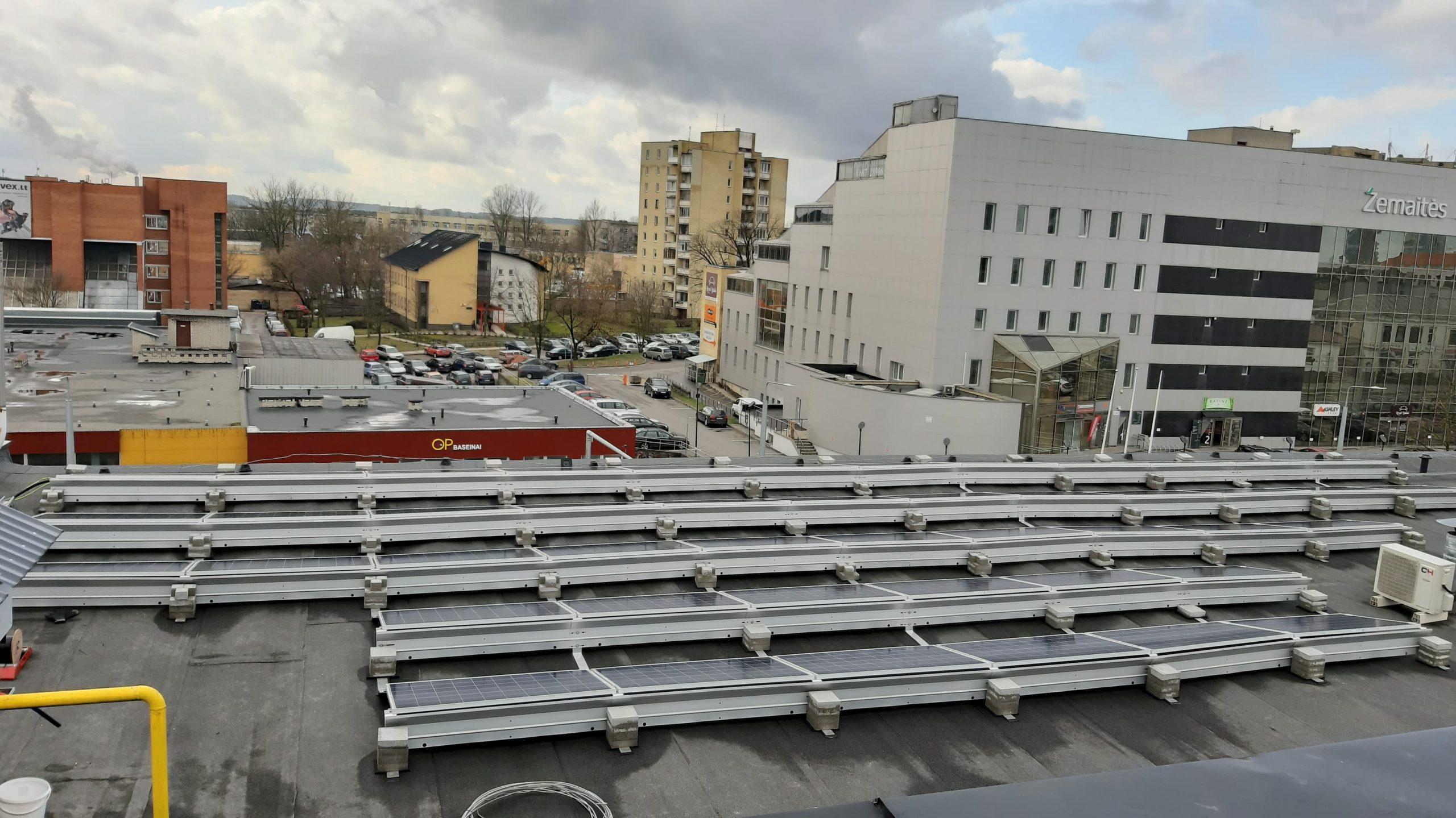 79 kW saulės elektrinė Vilniuje